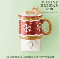 GINGERBREAD MAN NIGHTLIGHT MINI SCENTSY WARMER