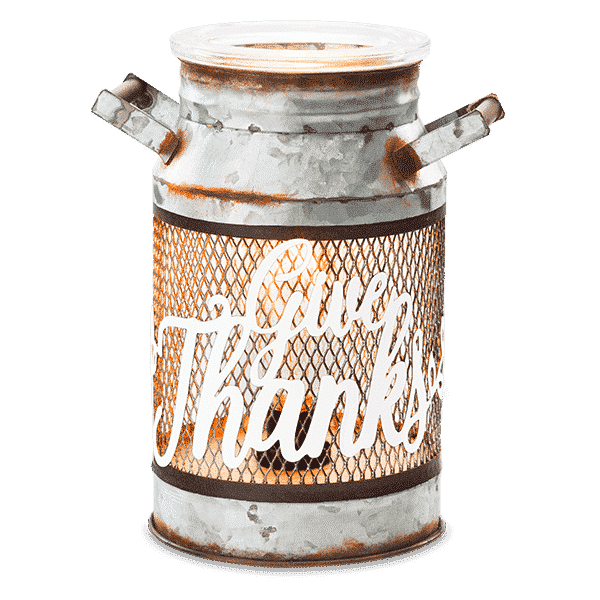 new give thanks milk can scentsy warmer scentsy buy online