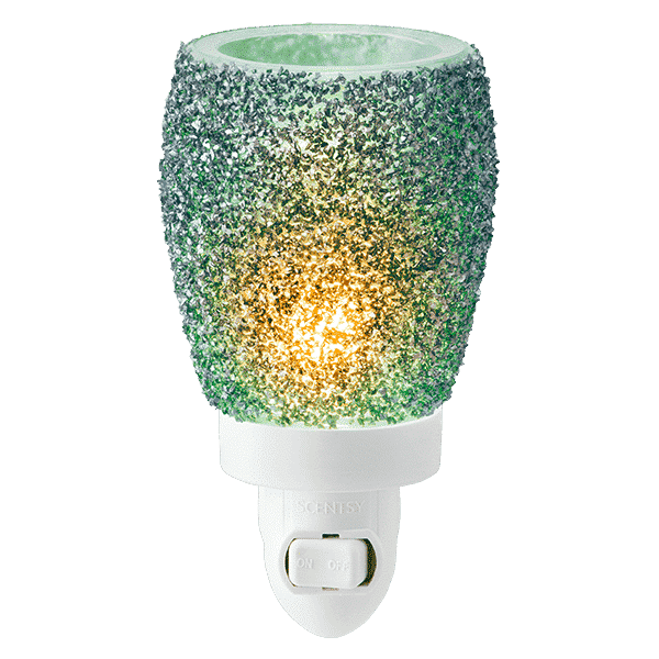 GLITTER TEAL MINI SCENTSY WARMER PNG