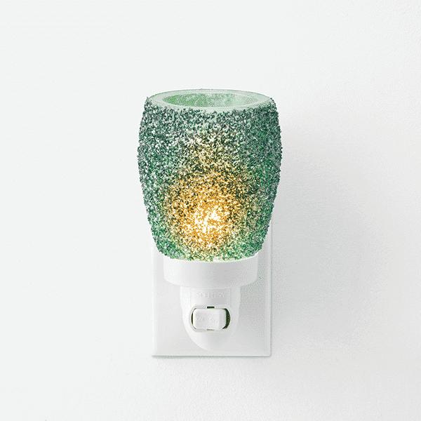GLITTER TEAL MINI SCENTSY WARMER | NEW! Glitter Teal Mini Scentsy Warmer | Summer 2021 | Incandescent.Scentsy.us