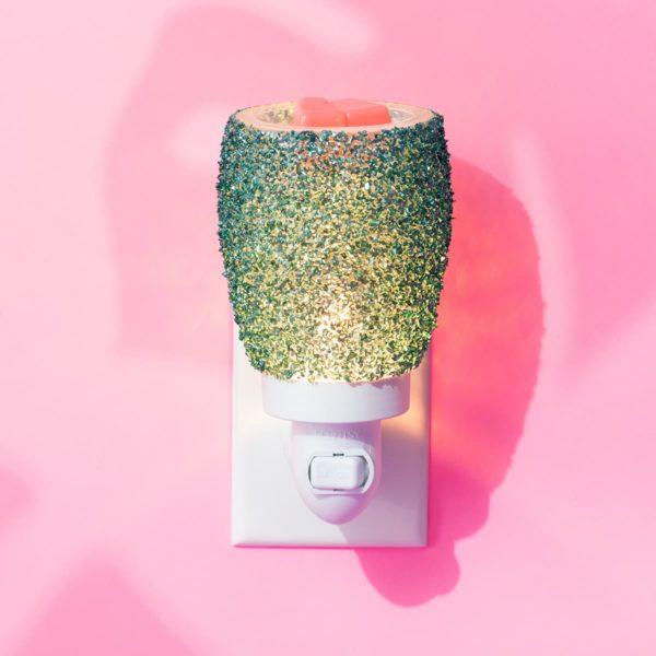 GLITTER TEAL SCENTSY MINI WARMER SUMMER 2021 | NEW! Glitter Teal Mini Scentsy Warmer | Summer 2021 | Incandescent.Scentsy.us