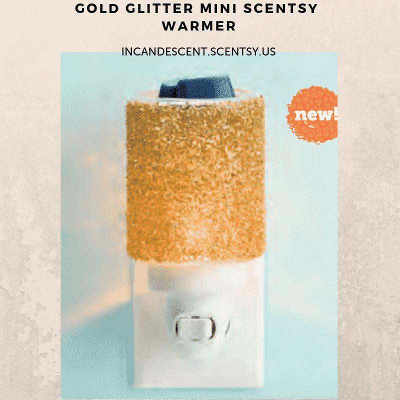 NEW! GLITTER GOLD NIGHTLIGHT MINI SCENTSY WARMER | Scentsy