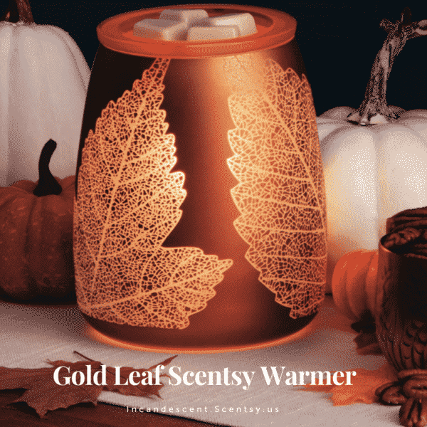 GOLD LEAF SCENTSY WARMER OCTOBER 2018 WARMER OF THE MONTH | NEW! BUTTER PECAN SCENTSY SCENT CIRCLE | Shop Scentsy | Incandescent.Scentsy.us