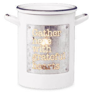 GRATEFUL HEARSTS SCENTSY WARMER GLOWING