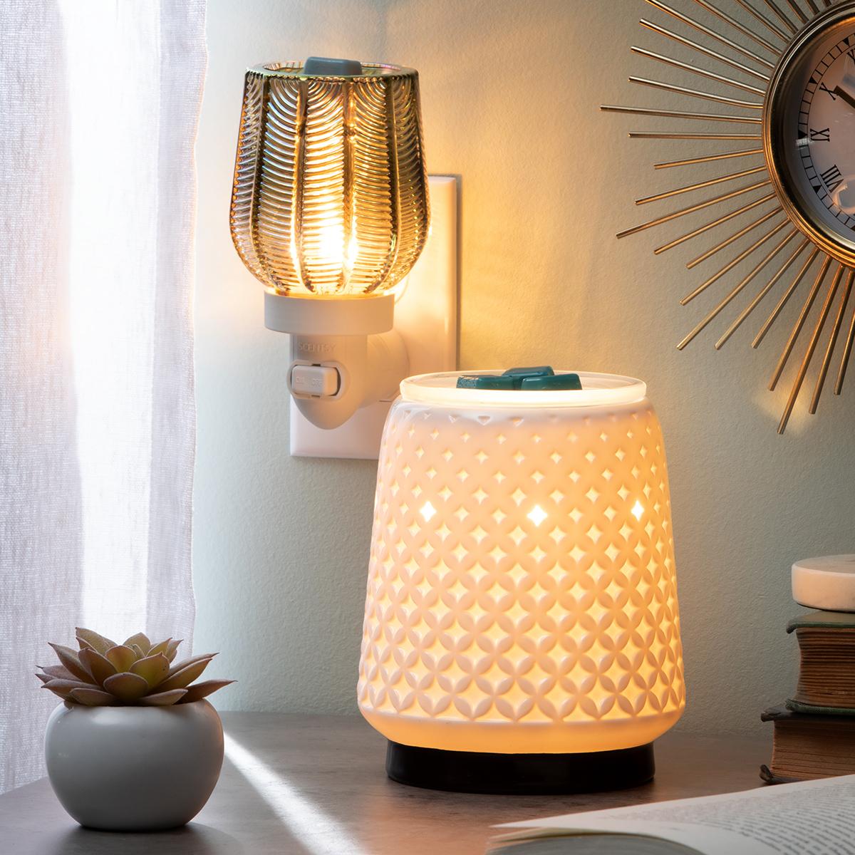 Gatsy Mini Scentsy Warmer Light from Within Scentsy Warmer   NEW! Gatsby Mini Scentsy Warmer   Incandescent.Scentsy.us