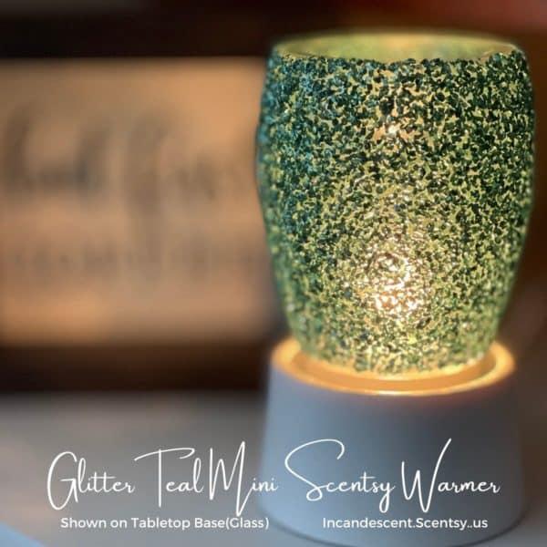 Glitter Teal Mini Scentsy Warmer 2 | NEW! Glitter Teal Mini Scentsy Warmer | Summer 2021 | Incandescent.Scentsy.us