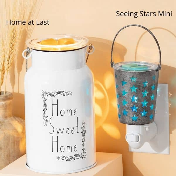 HOME AT LAST SCENTSY WARMER SEEING STARS MINI SCENTSY WARMER