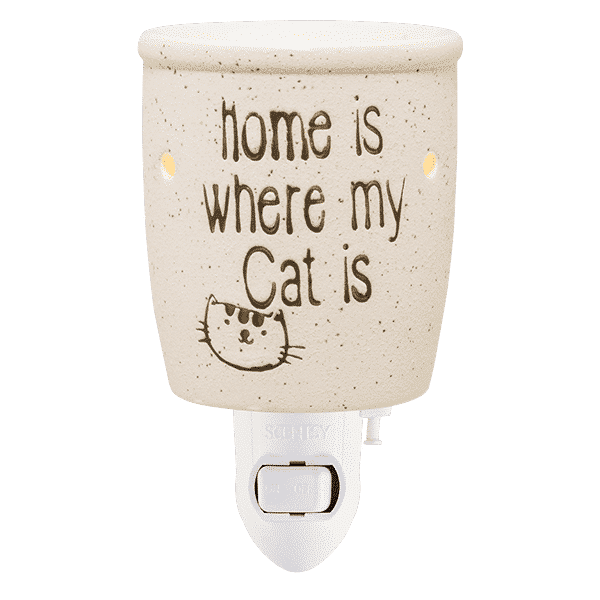 HOME IS WHERE MY CAT IS NIGHTLIGHT MINI SCENTSY WARMER