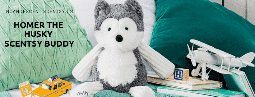 HOMER THE HUSKY SCENTSY BUDDY INCANDESCENT | NEW! HOMER THE SIBERIAN HUSKY SCENTSY BUDDY IS HERE!