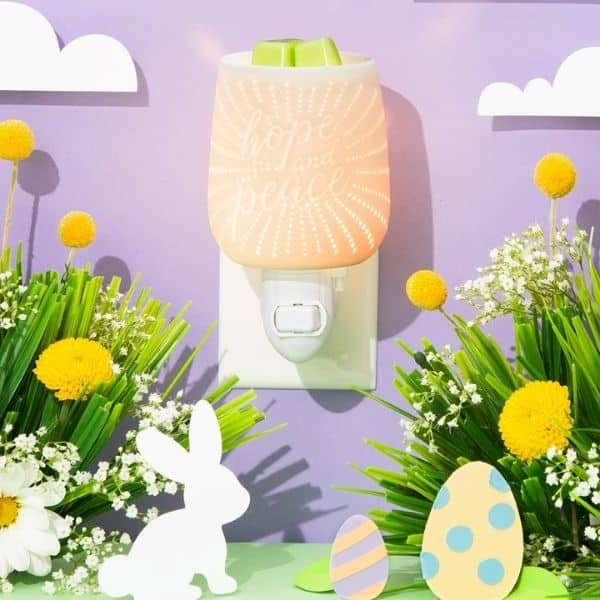HOPE AND PEACE MINI SCENTSY WARMER | NEW! HOPE AND PEACE MINI SCENTSY WARMER | EASTER 2021 | Incandescent.Scentsy.us