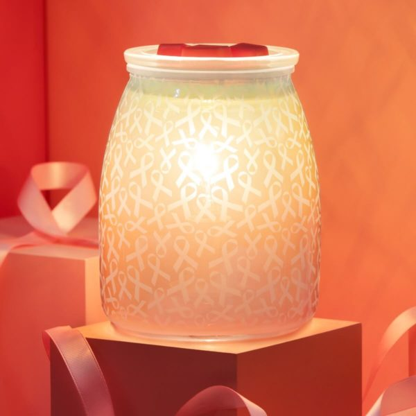 HOPE STRENGTH LOVE SCENTSY WARMER NATIONAL BREAST CANCER ASSOCIATION