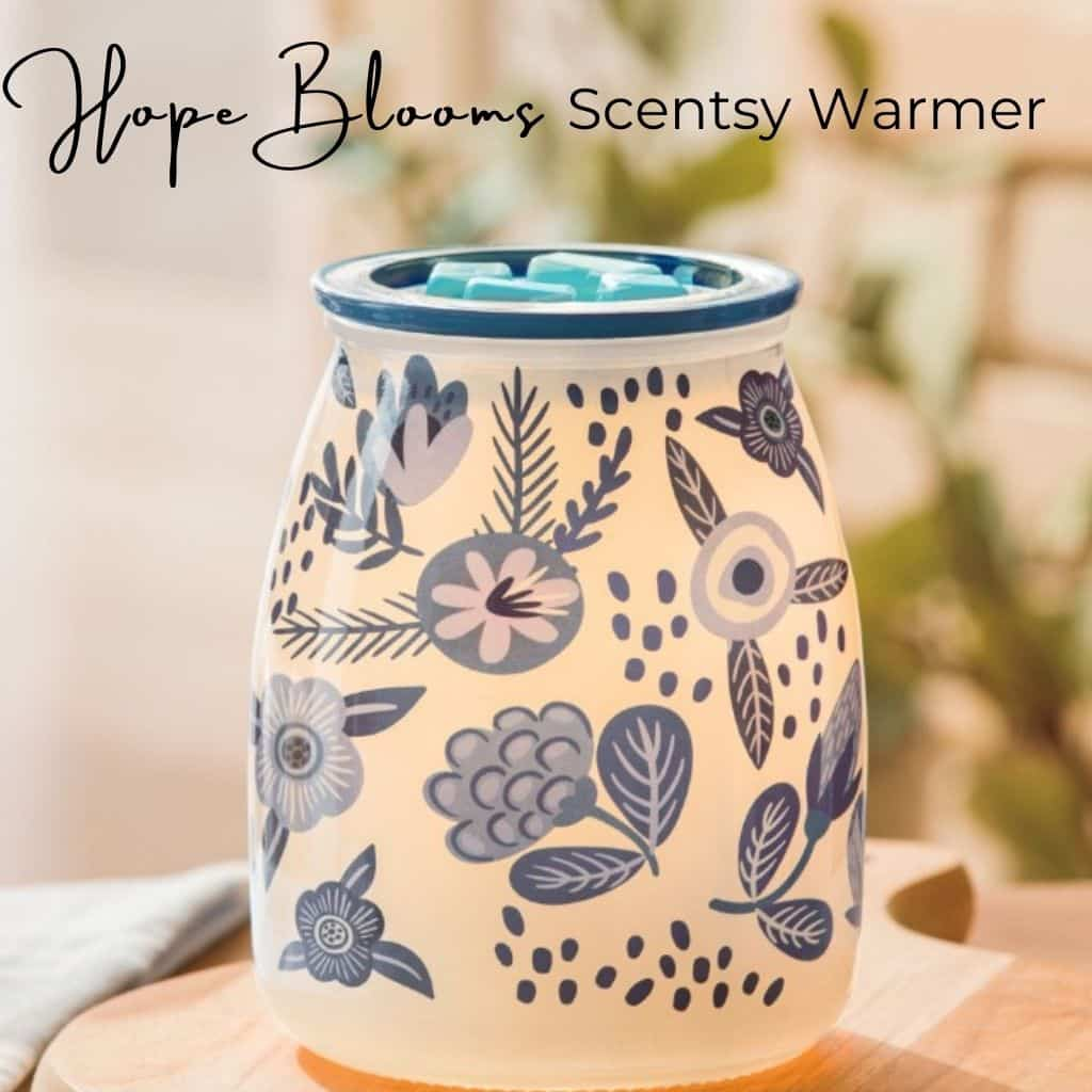 Hope Blooms Scentsy Warmer | Charitable Cause Fall 2021 Scentsy Catalog