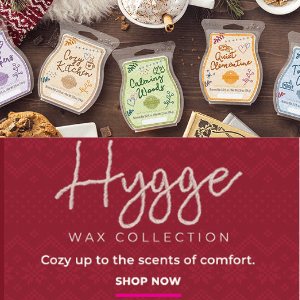 SCENTSY HYGGE WAX COLLECTION HOLIDAY 2018