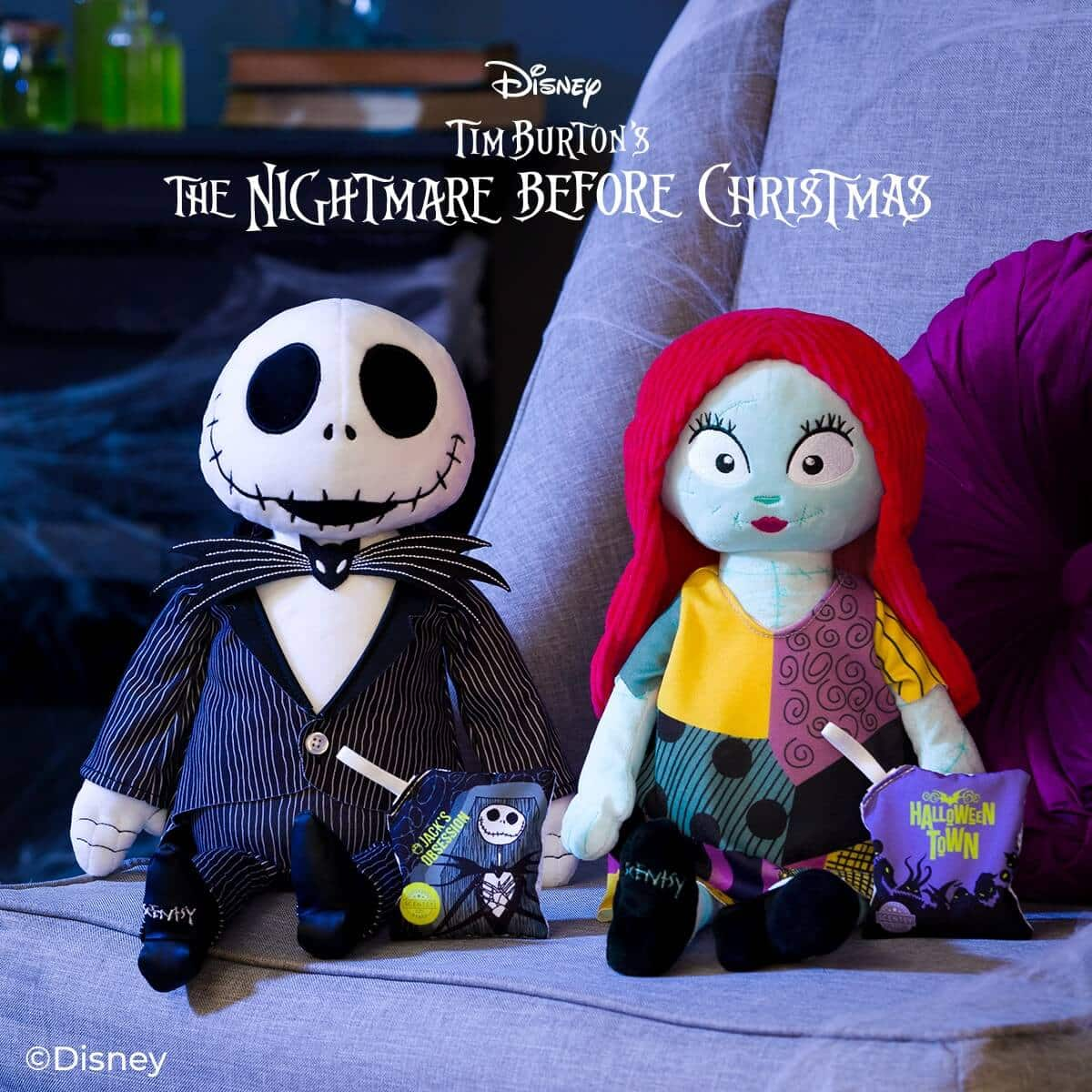 JACK SKELLINGTON AND SALLY SCENTSY BUDDY HALLOWEENTOWN 1