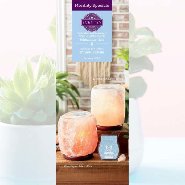 JANUARY 2020 WARMER & SCENT Incandescent.Scentsy.us-min | HIMALAYAN SALT WHITE SCENTSY WARMER | JANUARY 2020 | Shop Scentsy | Incandescent.Scentsy.us