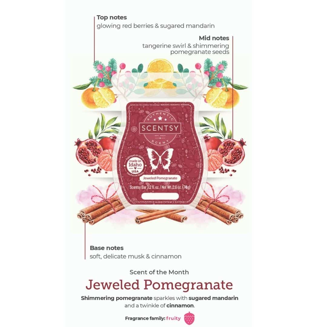 JEWELED POMEGRANATE SCENTSY FRAGRANCE