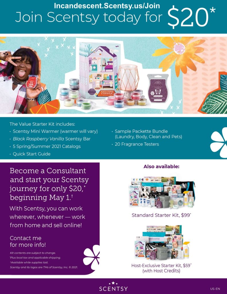 JOIN SCENTSY FOR 20 VALUE KIT 1