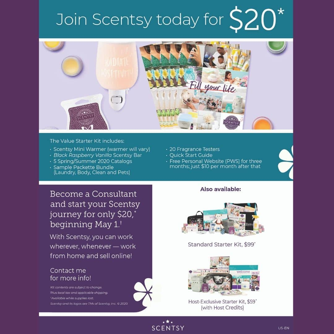 JOIN SCENTSY TODAY FOR $20 IN MAY
