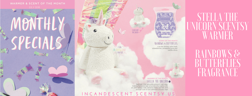 JULY 2018 STELLA THE UNICORN SCENTSY WARMER & RAINBOWS & BUTTERFLIES SCENTSY FRAGRANCE(1) | SCENTSY JULY 2018 WARMER & SCENT OF THE MONTH - STELLA THE UNICORN SCENTSY WARMER & RAINBOWS AND BUTTERFLIES FRAGRANCE | Scentsy® Online Store | Scentsy Warmers & Scents | Incandescent.Scentsy.us