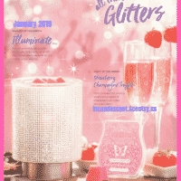SCENTSY JANUARY 2019 WARMER & SCENT OF THE MONTH - ILLUMINATE SCENTSY WARMER & STRAWBERRY CHAMPAGNE TRUFFLE