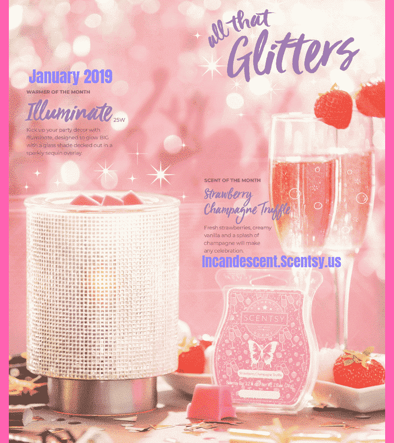 January 2019 Warmer & Scent of the Month Illuminate (1) (1) | SCENTSY JANUARY 2019 WARMER & SCENT OF THE MONTH - ILLUMINATE SCENTSY WARMER & STRAWBERRY CHAMPAGNE TRUFFLE