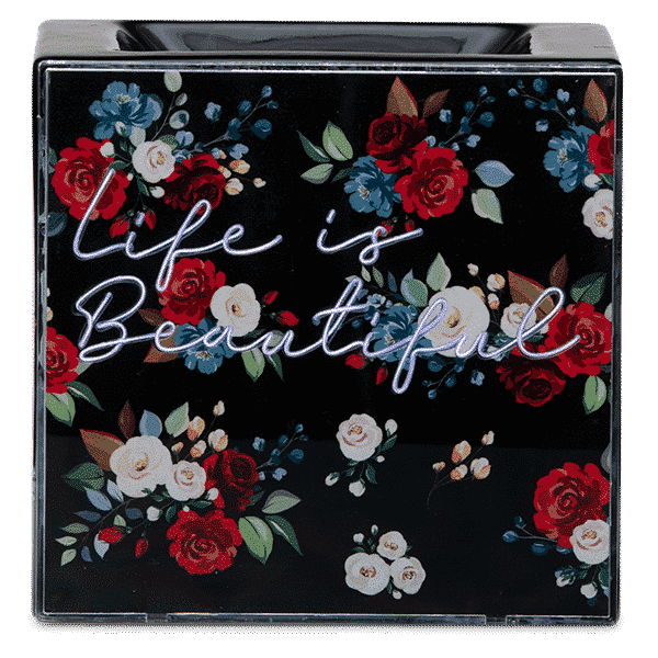 LIFE IS BEAUTIFUL SCENTSY WARMER GLOWING
