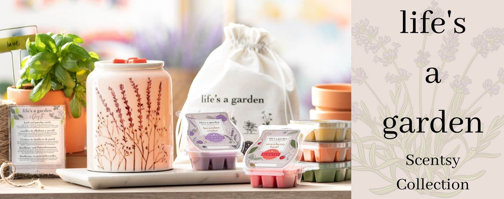 LIFE'S A GARDEN SCENTSY COLLECTION 2