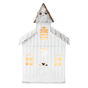 LITTLE CHURCH SCENTSY WARMER GLOWING
