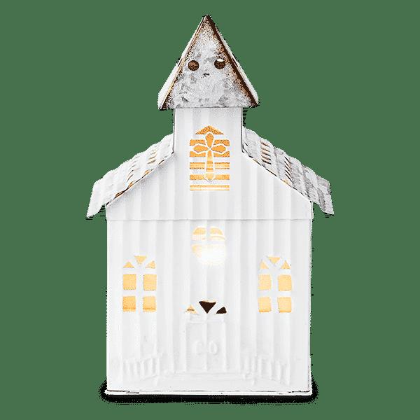 LITTLE CHURCH SCENTSY WARMER GLOWING