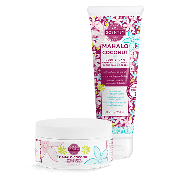 MAHALO COCONUT SCENTSY SPA BUNDLE ONG