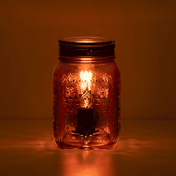 MANDALA MASON SCENTSY WARMER SUMMER 2021 DARK   NEW! Mandala Mason Jar Scentsy Warmer   Summer 2021   Incandescent.Scentsy.us