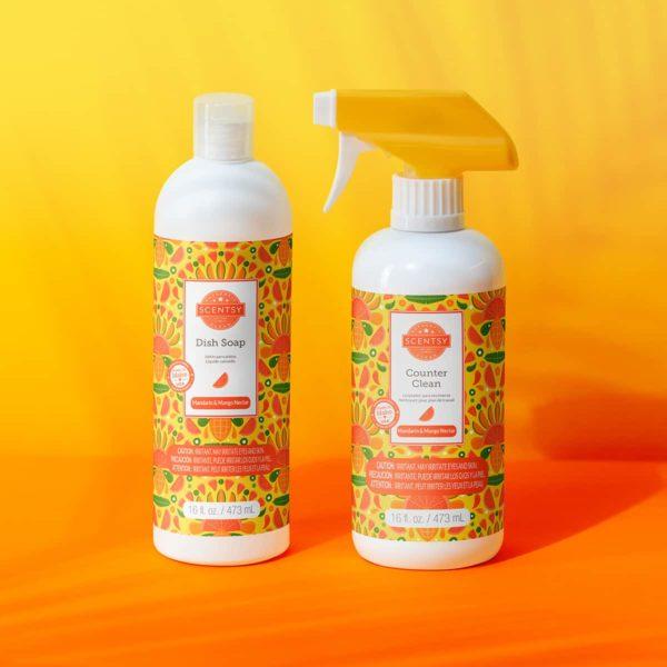 MANDARIN MANGO NECTAR SCENTSY CLEAN BUNDLE SUMMER 2021 | Mandarin & Mango Nectar Scentsy Clean Bundle | Summer 2021