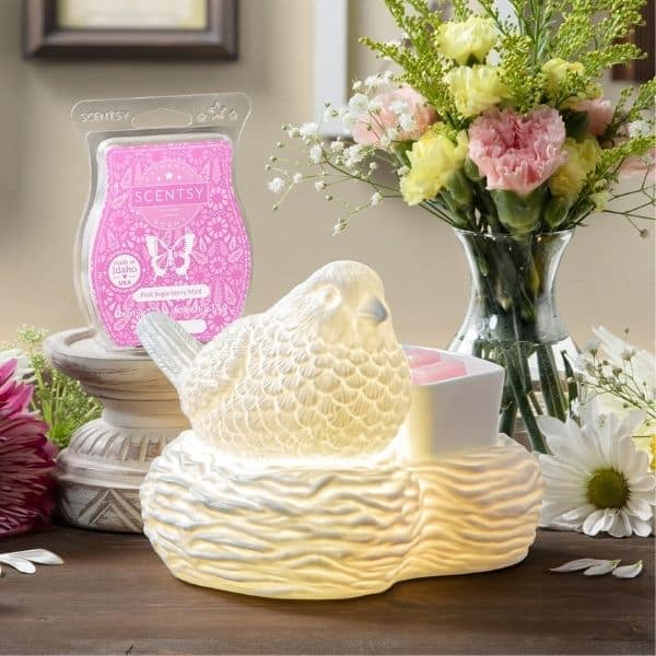 Scentsy March 2021 Warmer & Scent of the Month – Birds of a Feather Warmer & Pink Sugarberry Mint
