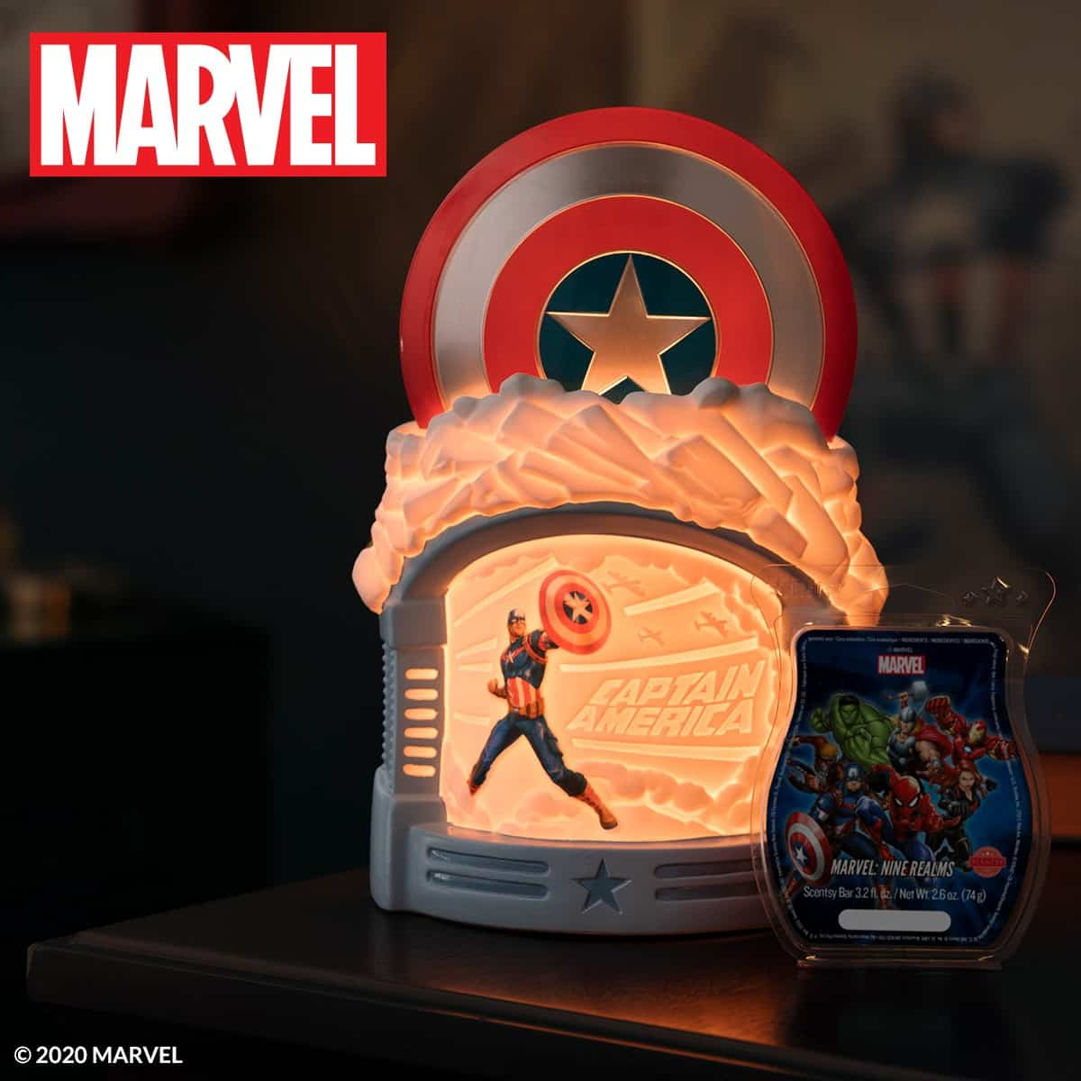MARVEL: SPIDER-MAN SCENTSY WALL DIFFUSER | CAPTAIN AMERICA, THOR, IRON MAN SCENTSY WARMERS | SPRING 2021