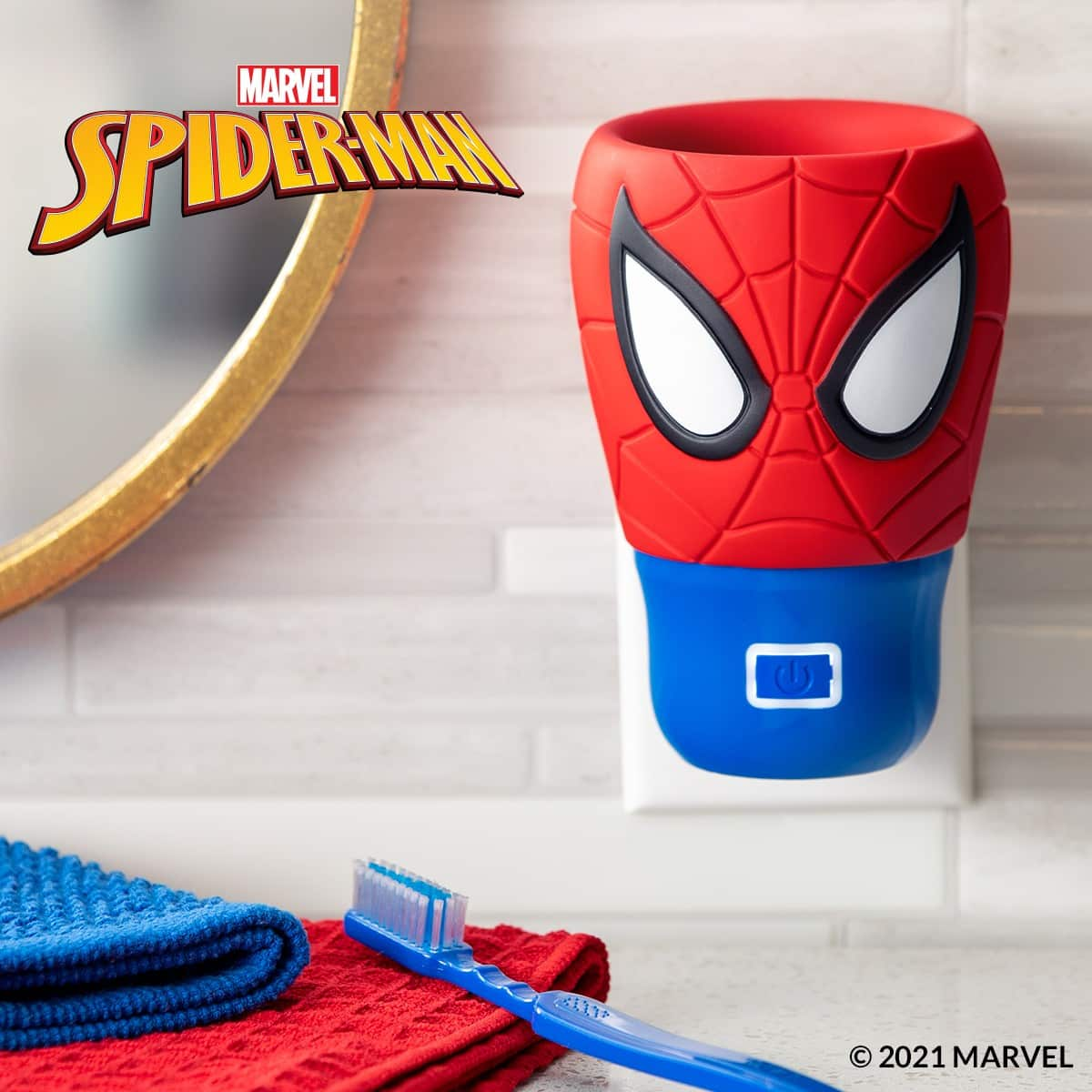 New! Scentsy – Marvel Spider-Man Wall Fan Diffuser & Nine Realms Fragrance