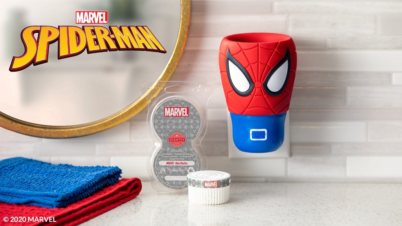 MARVEL SPIDERMAN SCENTSY WALL DIFFUSER AND PODS