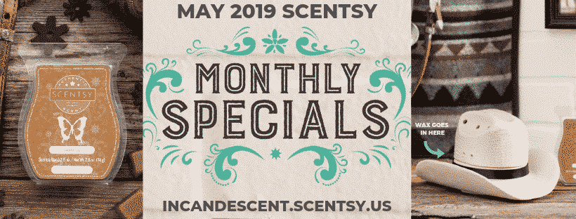 MAY 2019 SCENTSY WARMRE & SCENT OF THE MONTH - COUNTRY BORN COWBOY HAT WARMER