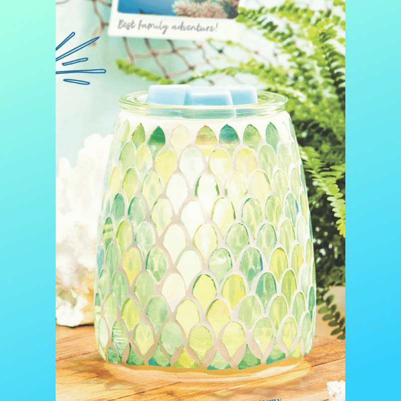 NEW! MERMAID GLASS SCENTSY WARMER | MARCH 2019 SPECIAL
