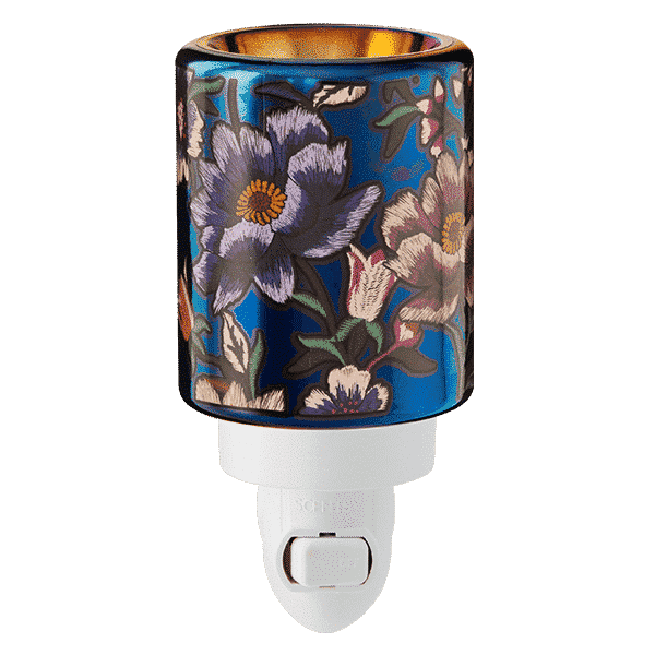 MIDNIGHT FLORAL MINI SCENTSY WARMER GLOW