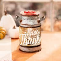 GIVE THANKS MILK CAN SCENTSY WARMER