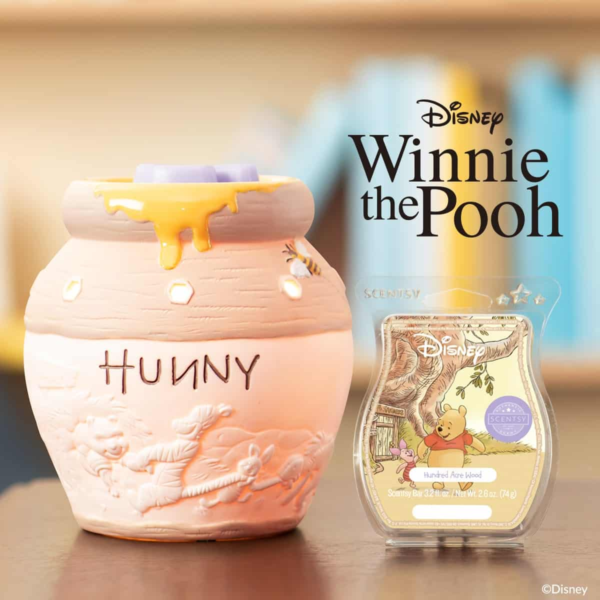 WINNIE THE POOH & FRIENDS –  HUNNY POT SCENTSY WARMER & EEYORE SCENTSY BUDDY | SCENTSY DISNEY COLLECTION