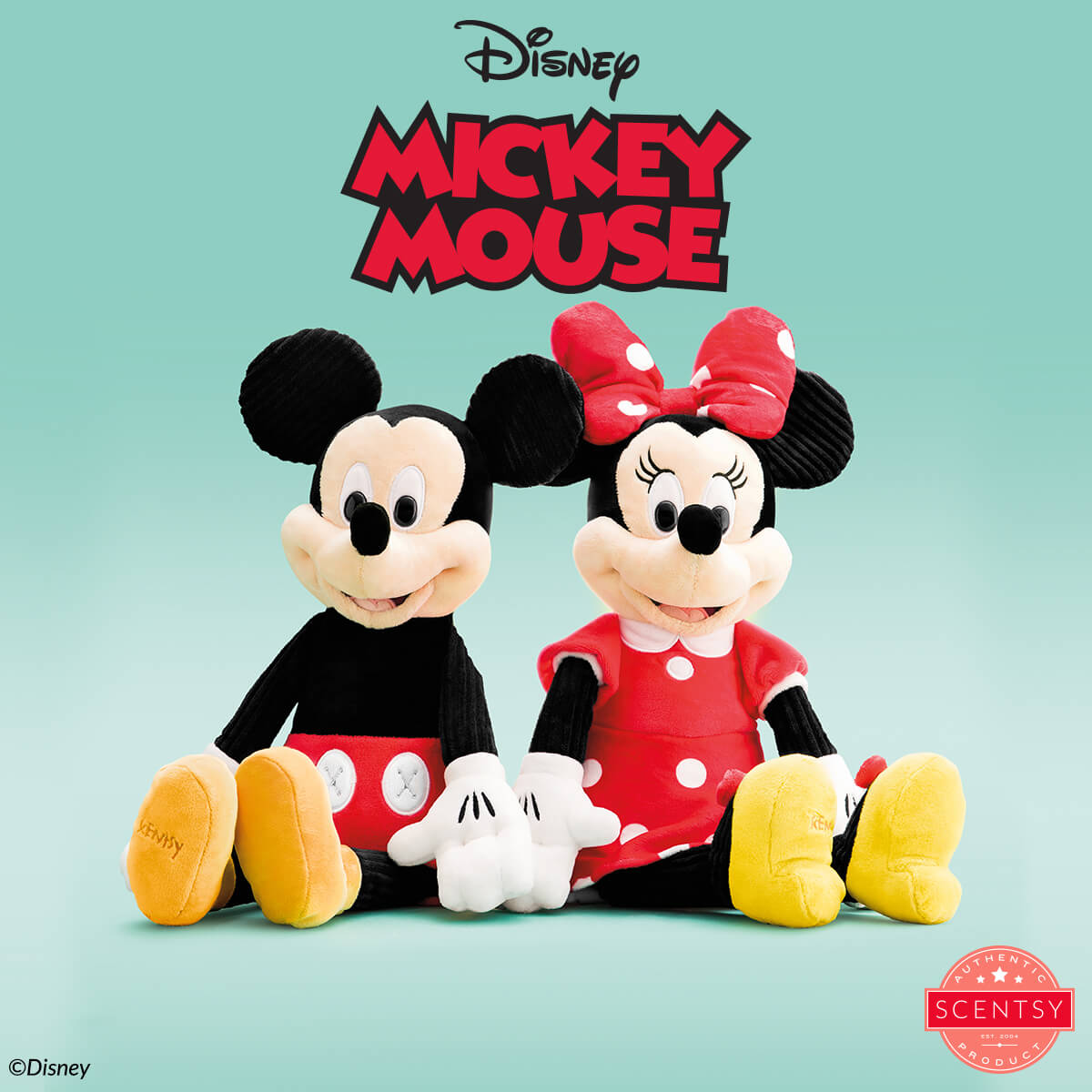 SCENTSY MICKEY MOUSE BUDDY, SCENTSY MINNIE MOUSE BUDDY