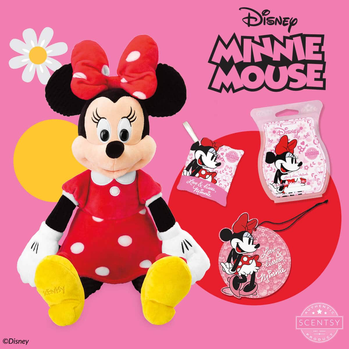 MINNIE MOUSE - SCENTSY BUDDY, LOVE & KISSES MINNIE - SCENTSY FRAGRANCE