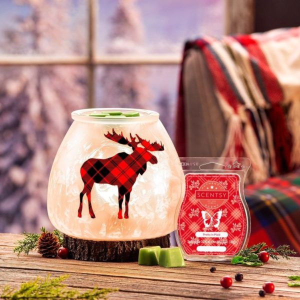SCENTSY NORTHERN PLAID WARMER