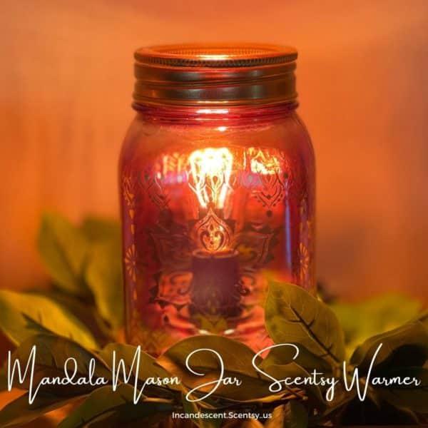 Mandala Mason Jar Scentsy Warmer   NEW! Mandala Mason Jar Scentsy Warmer   Summer 2021   Incandescent.Scentsy.us