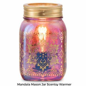 Mandala Mason Jar Scentsy Warmer | NEW! Mandala Mason Jar Scentsy Warmer | Summer 2021 | Incandescent.Scentsy.us