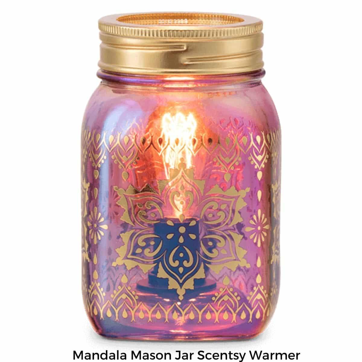 Mandala Mason Jar Scentsy Warmer | Summer 2021
