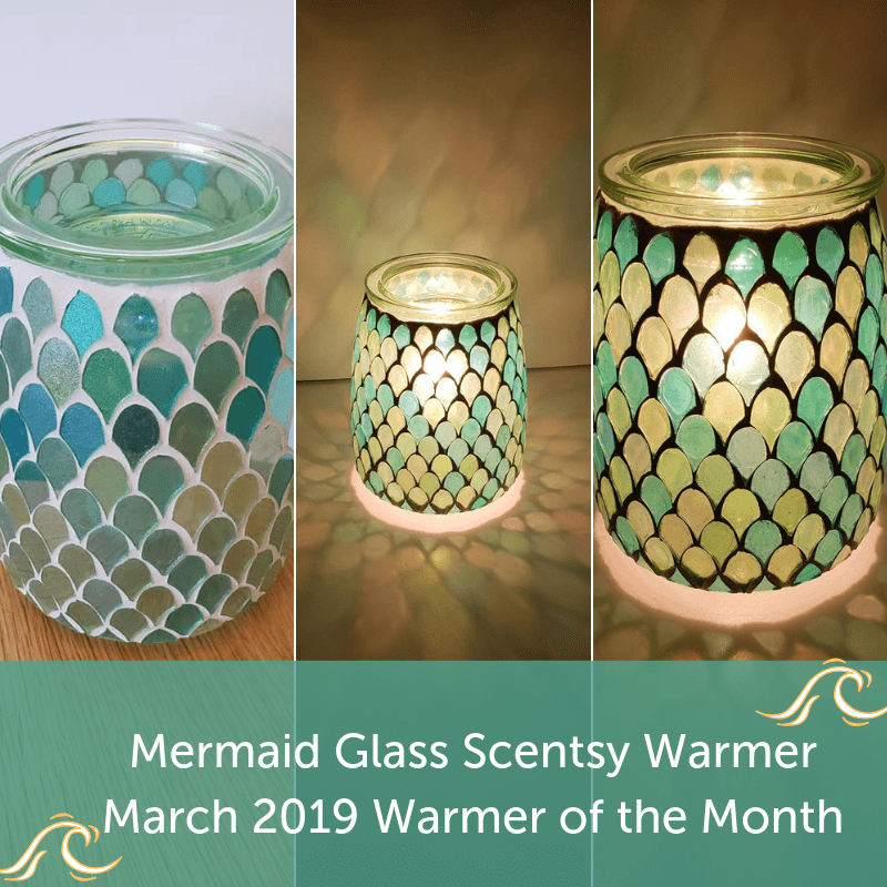 Mermaid Glass Scentsy Warmer March 2019 Warmer of the Month