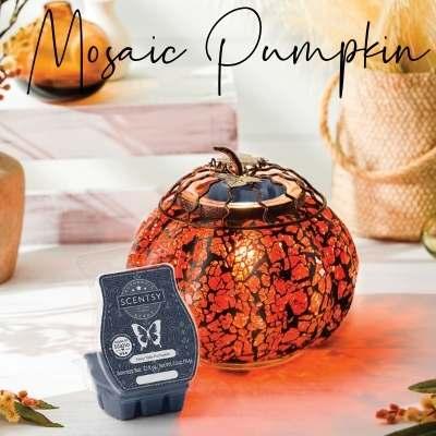 Mosaic Pumpkin Scentsy Warmer 2021 October 400X400 1