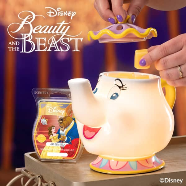 Mrs. Potts Scentsy Warmer with the Last Petal   NEW! Mrs. Potts Teapot Scentsy Warmer   Disney Beauty & The Beast Scentsy Collection